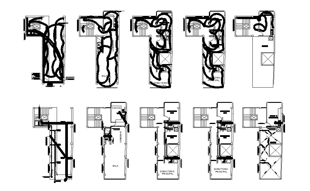 Electrical layout of residential house