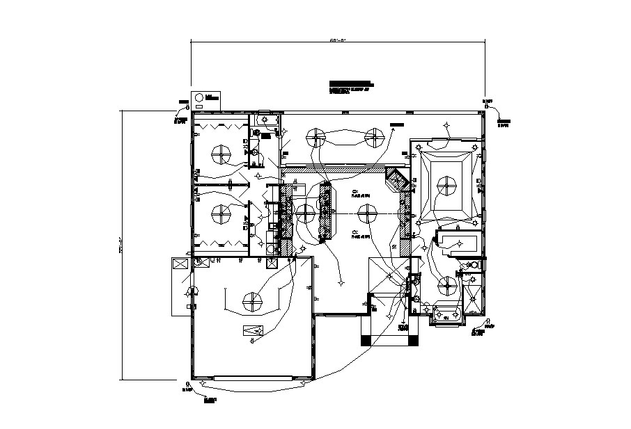 electrical layout plan details of country club villa house dwg file