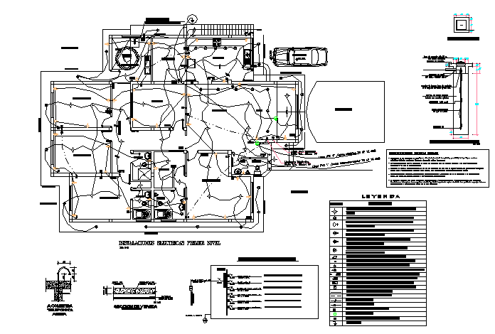 Electrical layout plan dwg file
