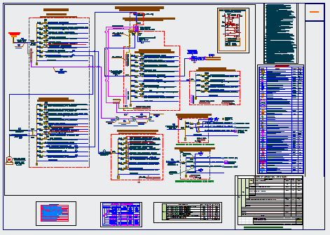Electrical line diagram design drawing of bank project