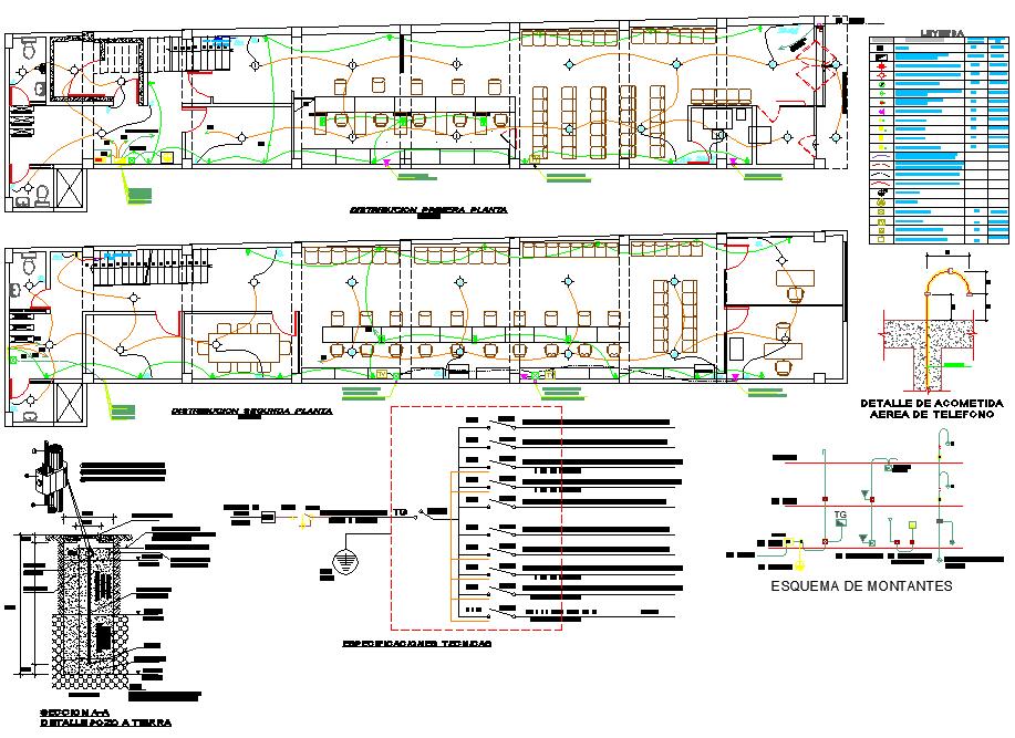 Electrical office plan detail