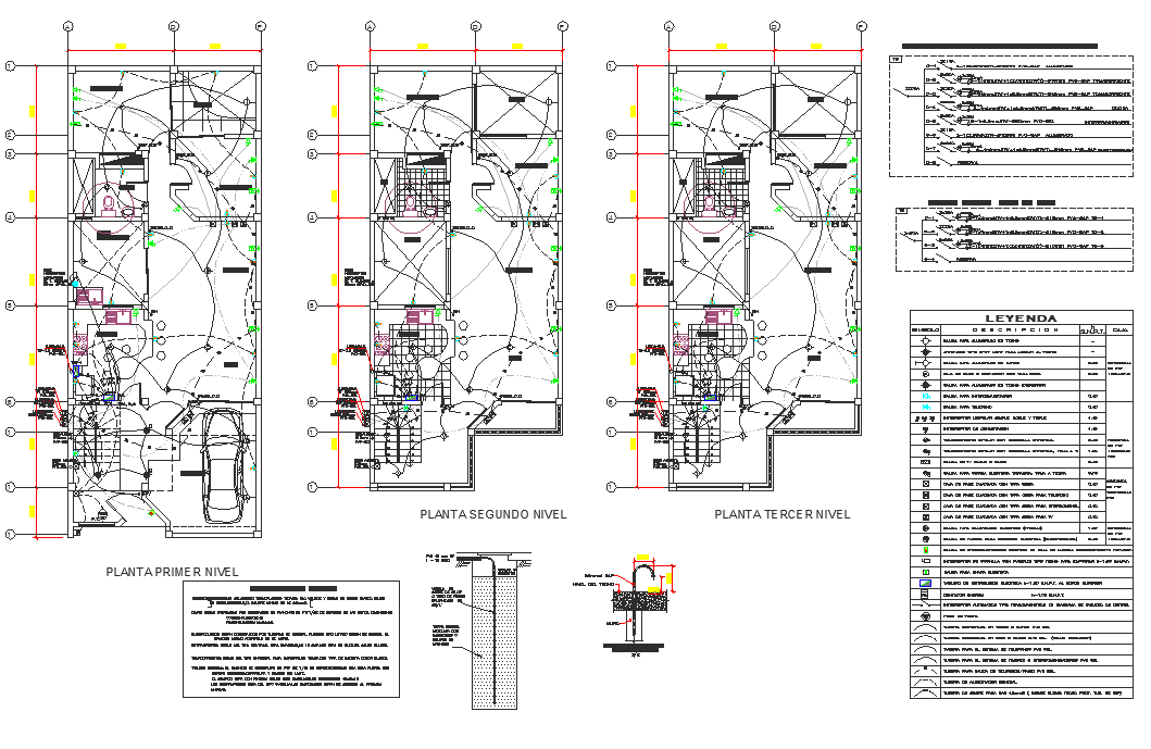 Electrical plan layout detail dwg file
