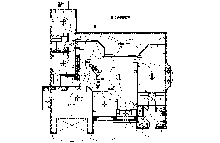 Electrical plan of house dwg file