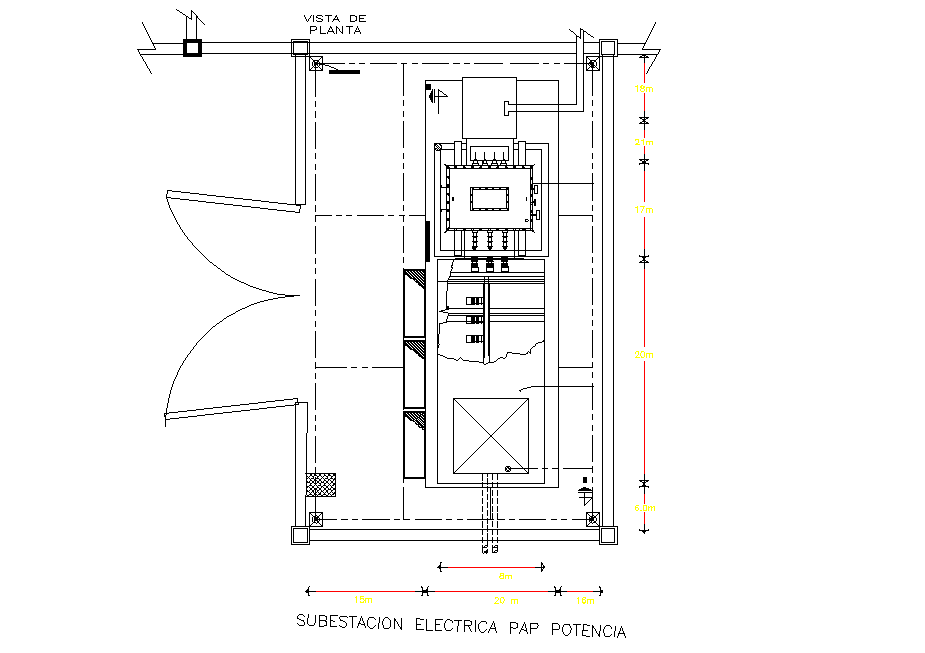 Electrical substation plan dwg file