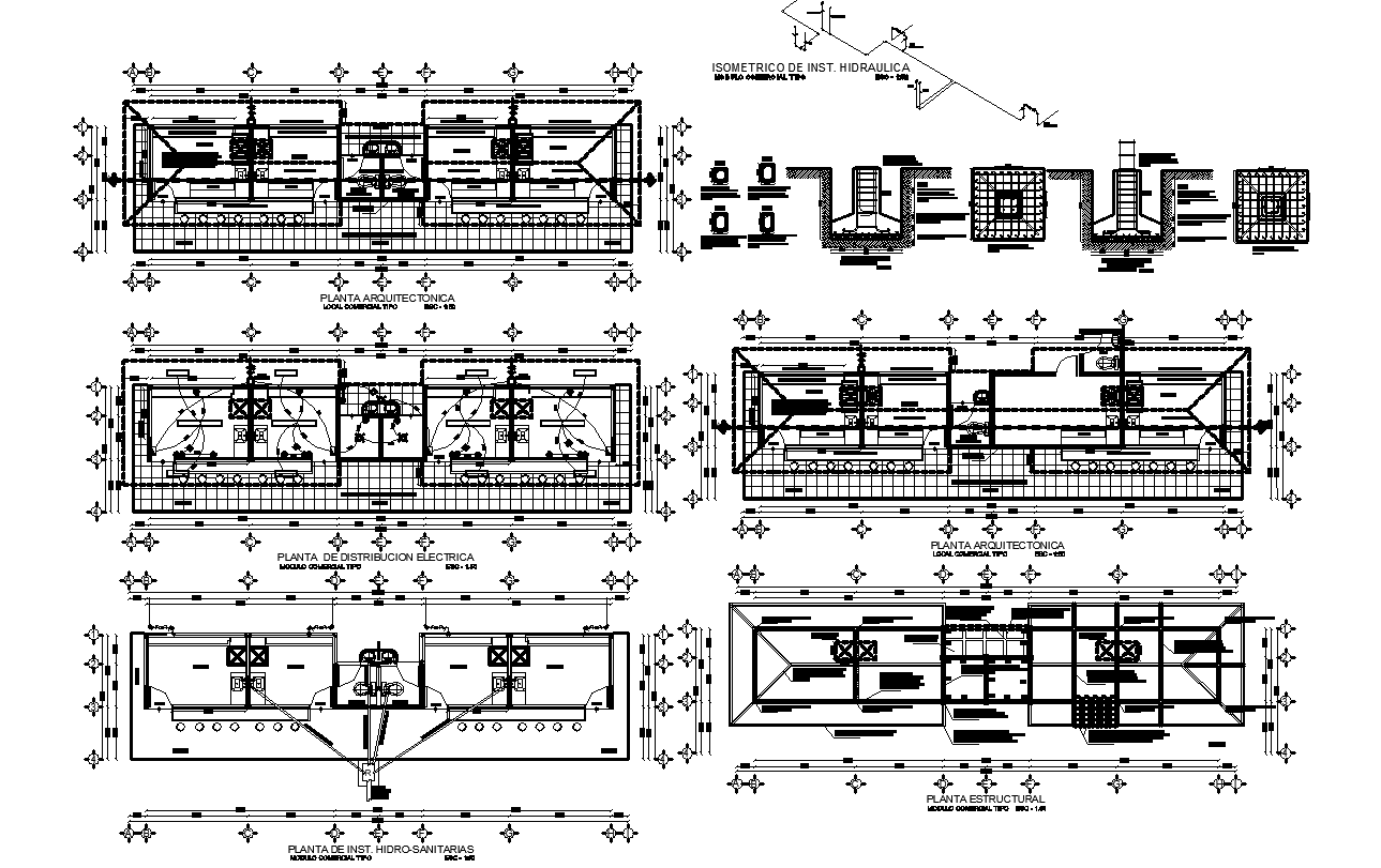 Electrical working plan and foundation plan detail dwg file
