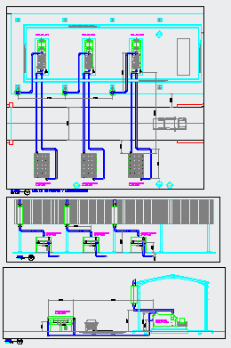 Electricity generator with air coolers details drawing