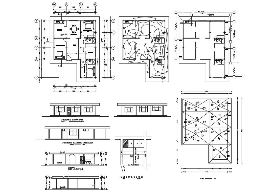 Elevation  House Plans AutoCAD File Free