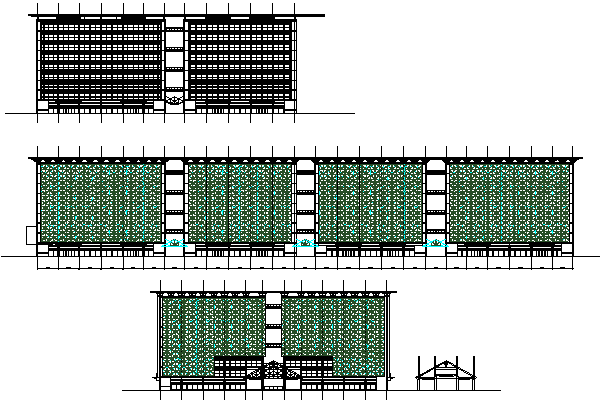 Elevation design drawing of high rise Corporate building design