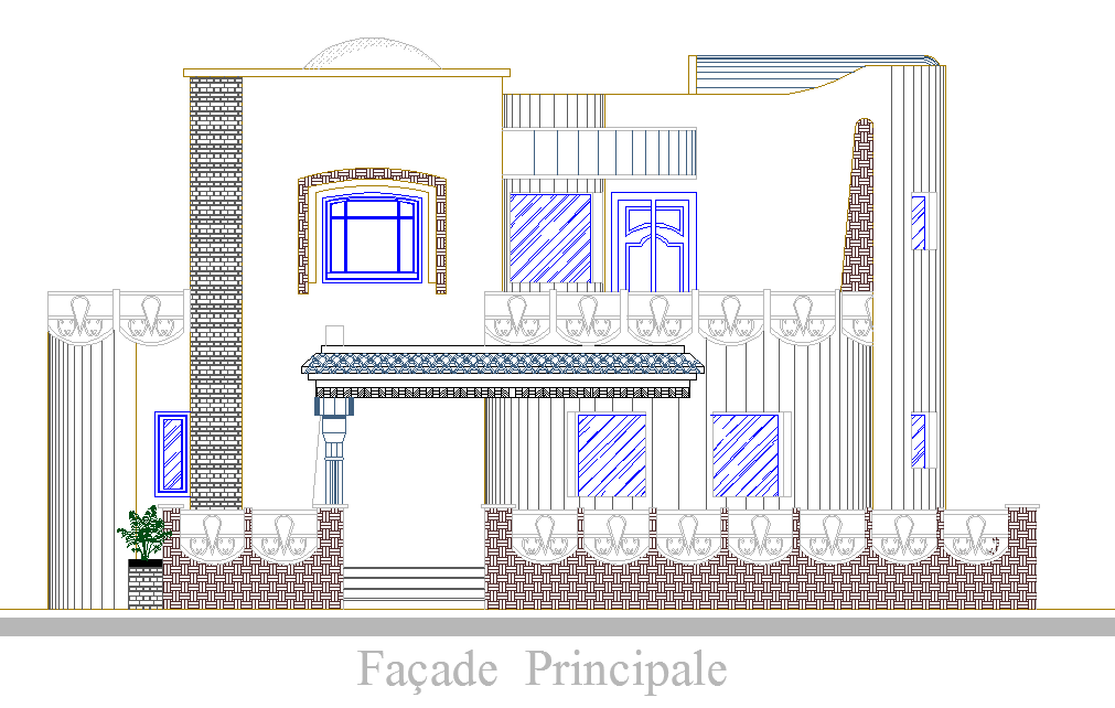 Elevation design of House project