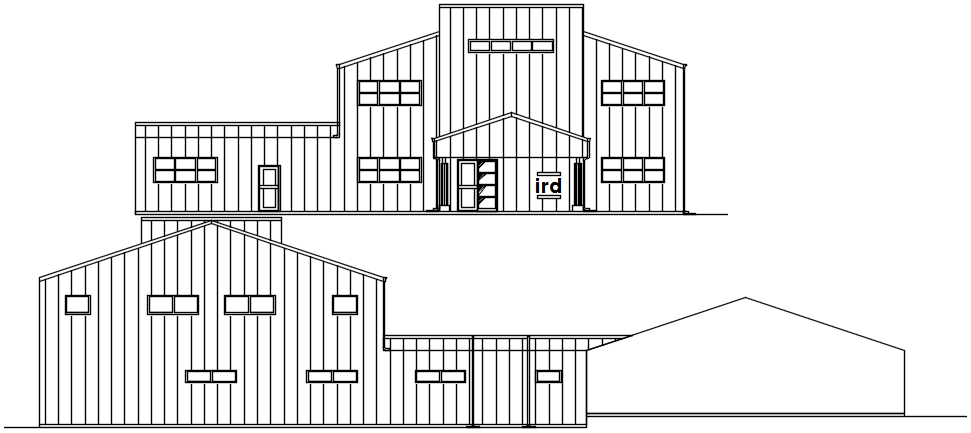 Building Elevation Drawing In AutoCAD File