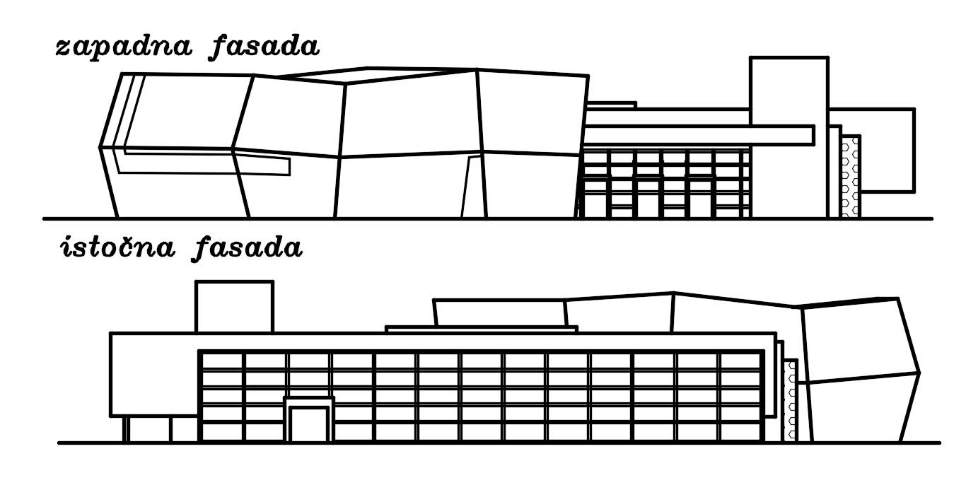 Elevation of hotel building design dwg file