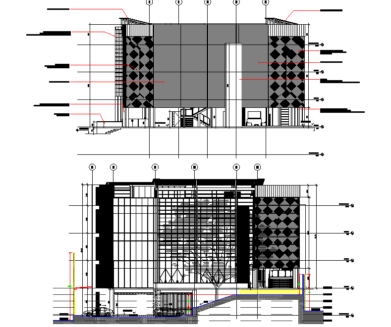 Elevation office plan