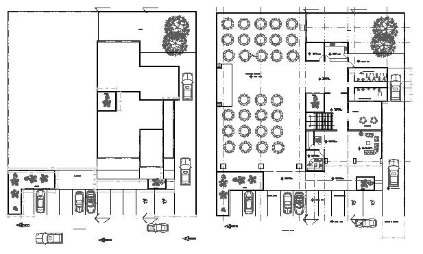 Engineer association building floor plan details dwg file