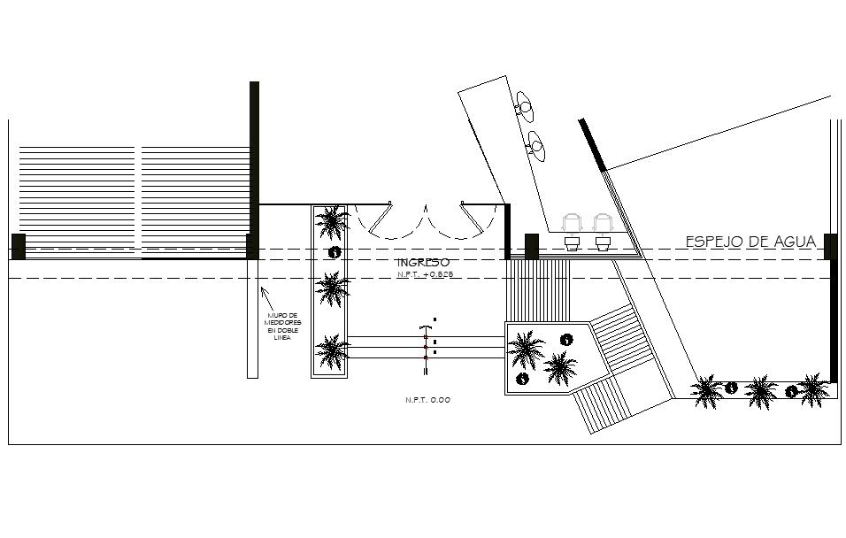 Entree office plan detail