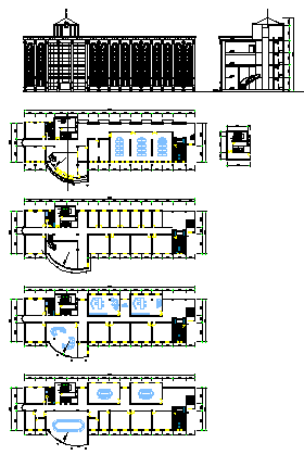 European office building design drawing