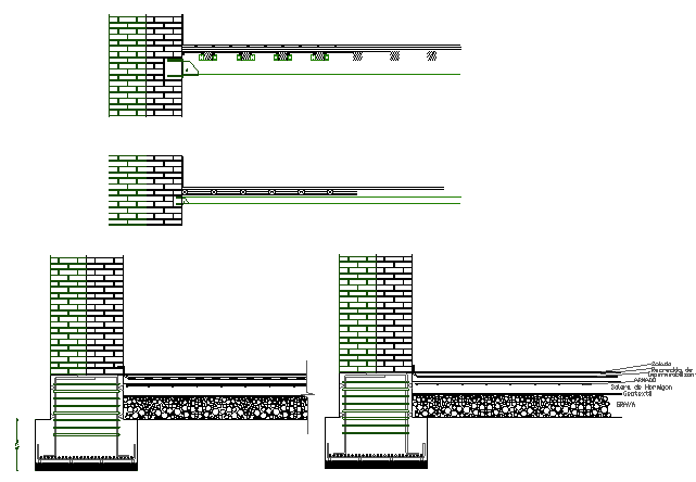 Exhibition halls footings details with column details dwg file