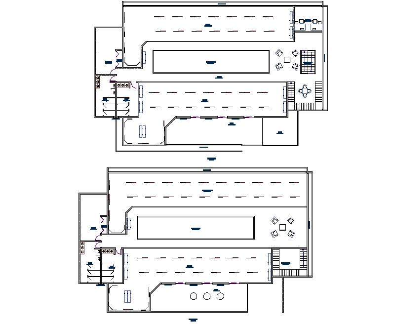 Exhibition museum plan detail dwg file