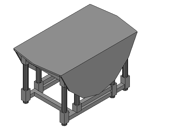 Extendable Dining Table 3d detail