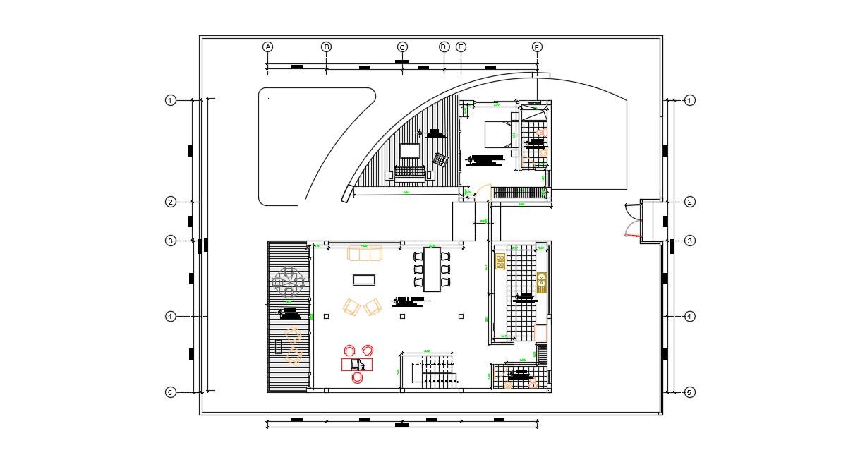 Exterior House Design In AutoCAD File Fri Oct 2019 07 22 55