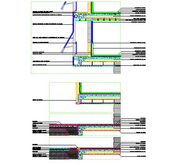 Facade cross section