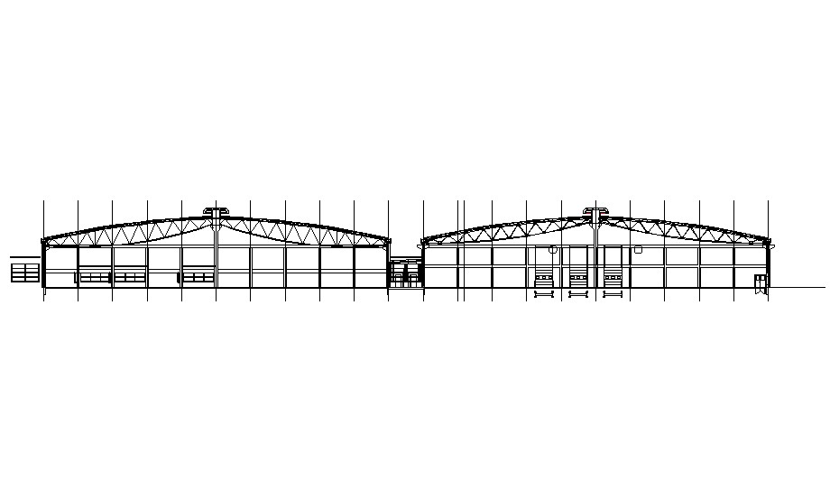 Factory Shed Drawing download CAD file