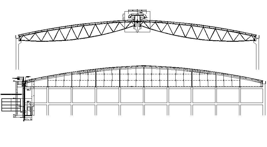 Industrial shed Design CAD file download