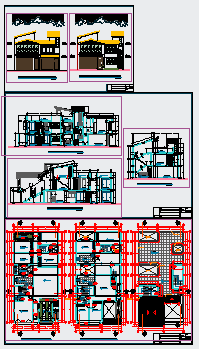 Family housing between walls design drawing