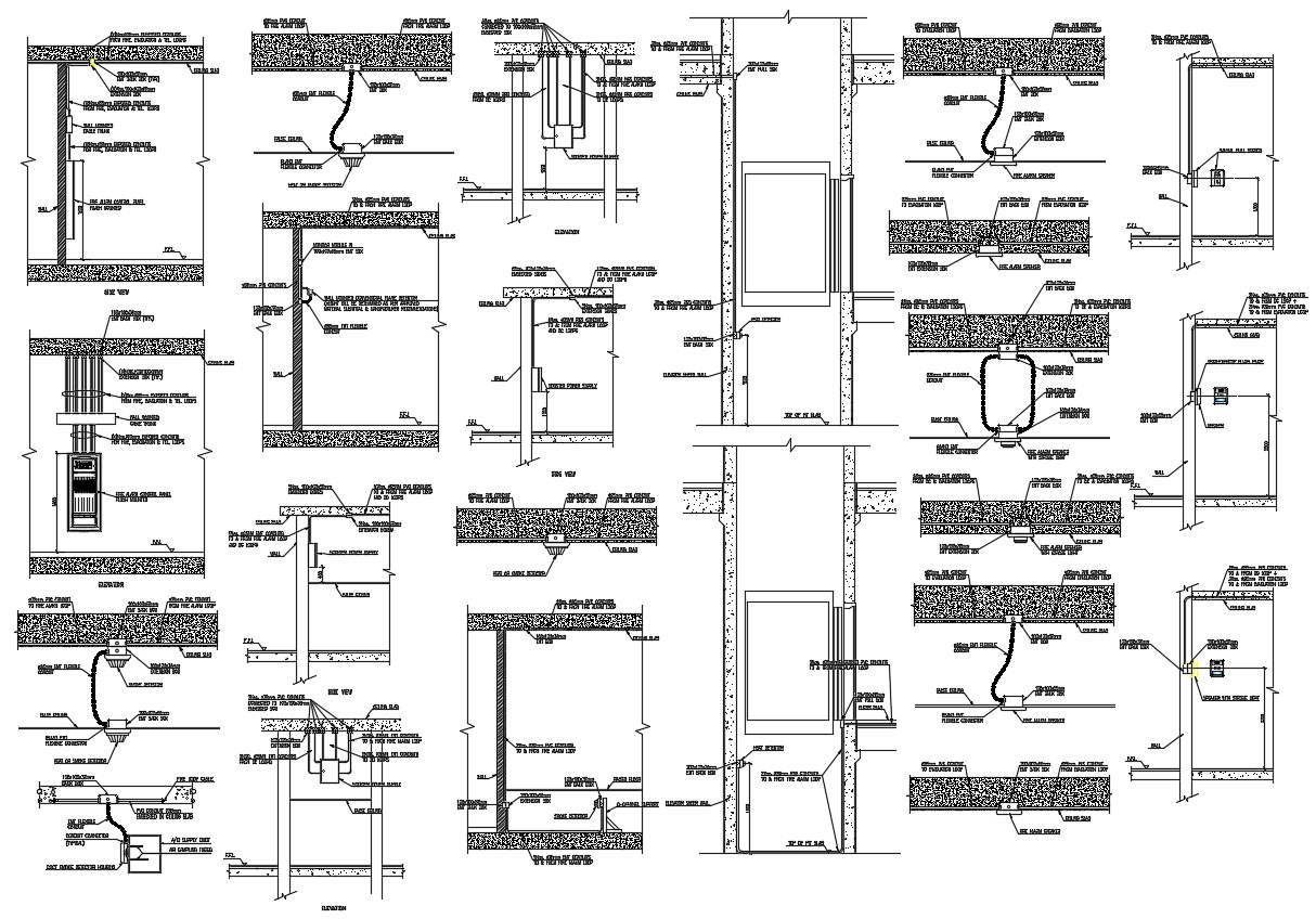 Fire Alarm Schematic Drawing