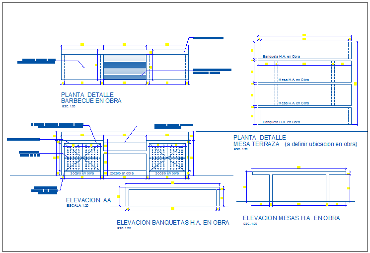 Fire place of barbecue kitchen elevation and sectional details dwg file