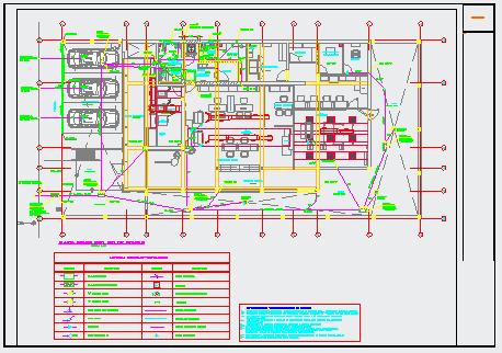 First floor layout design of Bank project design drawing