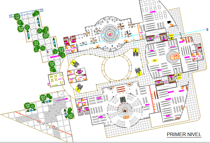 First floor layout plan details of city shopping mall dwg ...