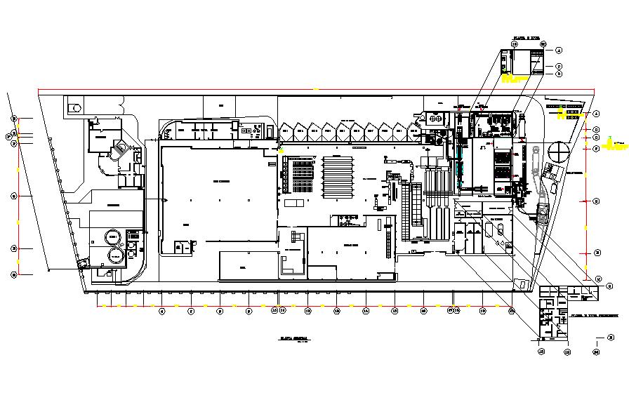 Fish industry plan detail dwg file