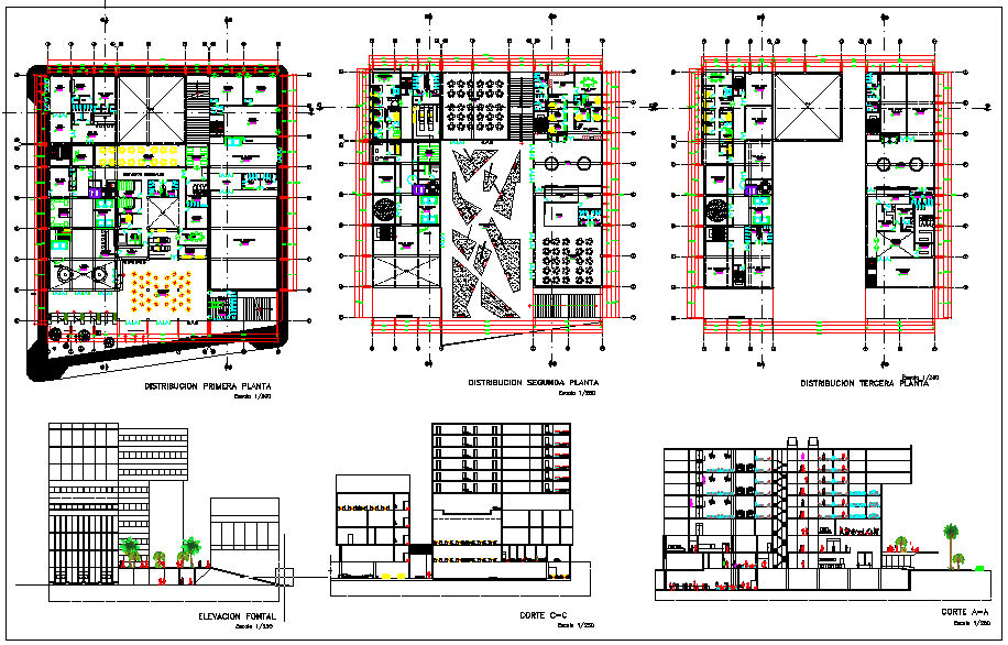 Five Star Hotel And Convention Center dwg file