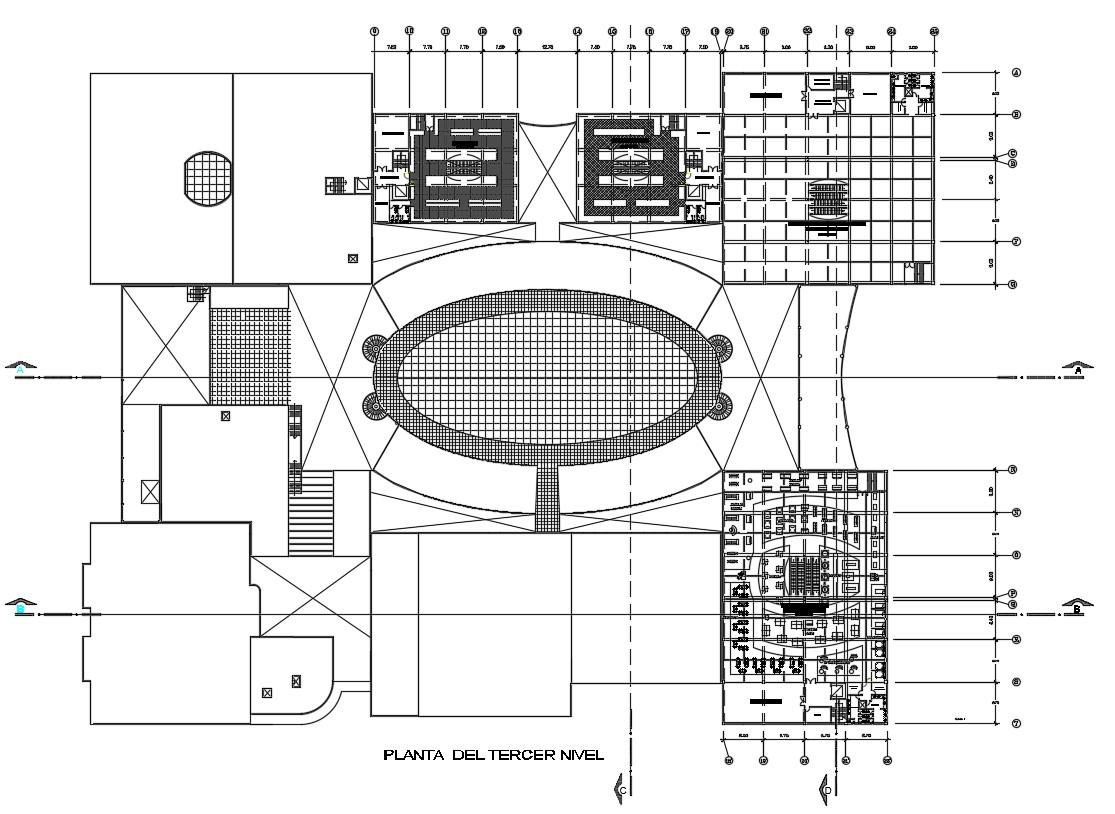 Floor Plan Terrace CAD Drawing download