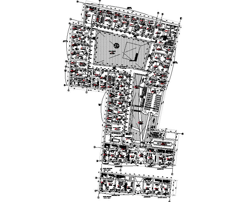 Floor office plan detail dwg file