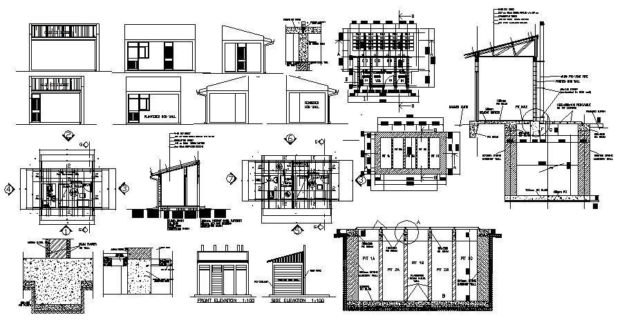 Small Hospital Plan In AutoCAD File
