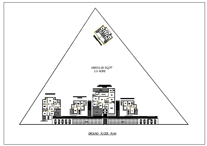 Floor plan of a rest house dwg file