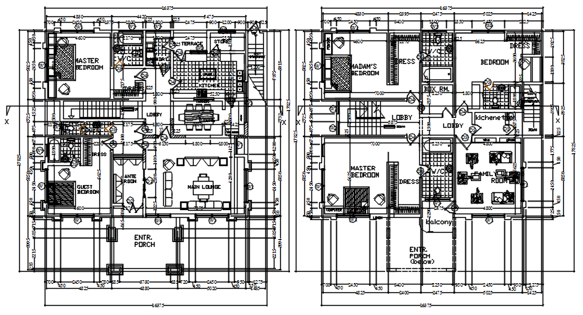 Mega Mansion Floor Plan In AutoCAD File