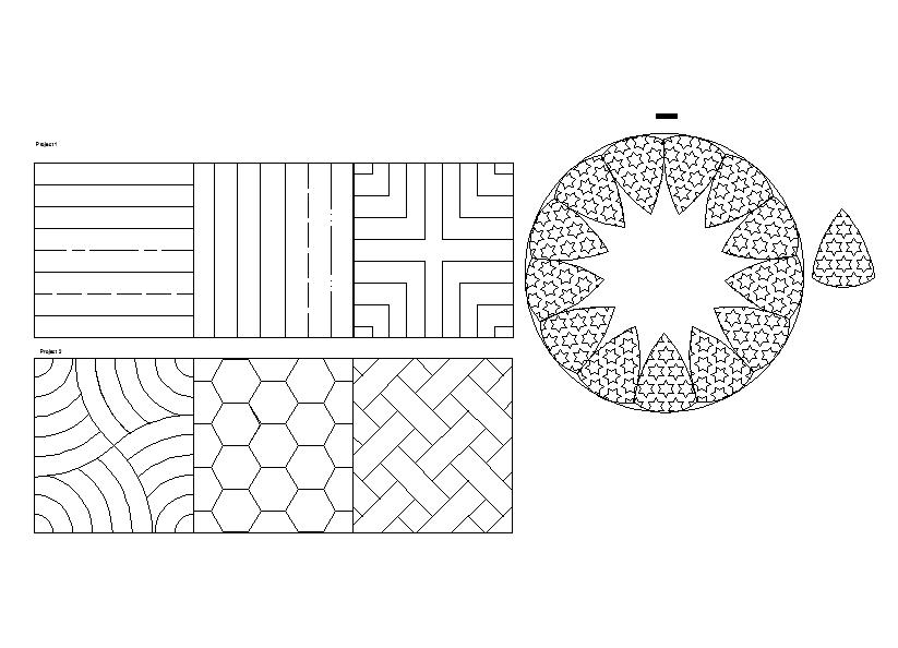 Flooring tile design Block