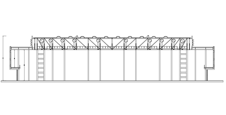 Footbridge Elevations DWG File