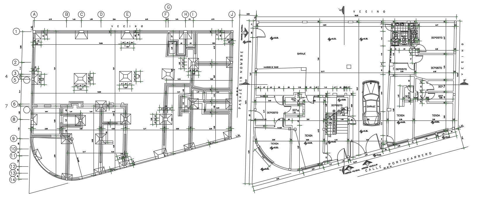 Foundation Plan CAD File Free