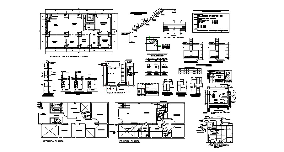 Home Foundation Plan In DWG File