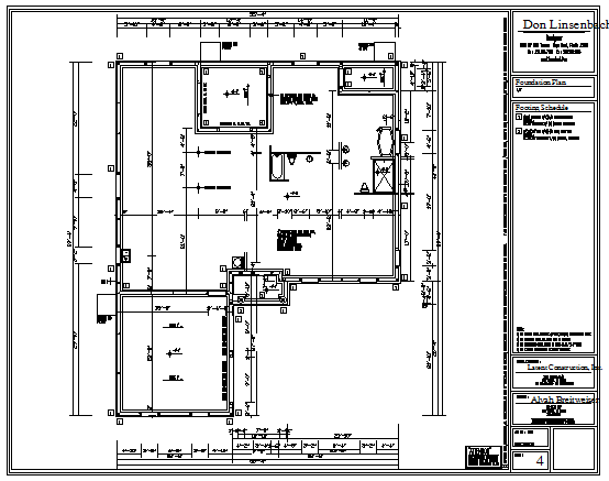 Foundation plan design drawing of house design drawing