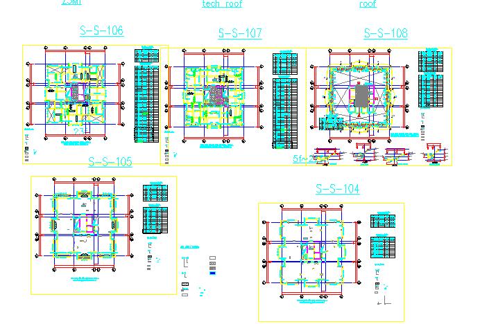 Framing plan tower A details