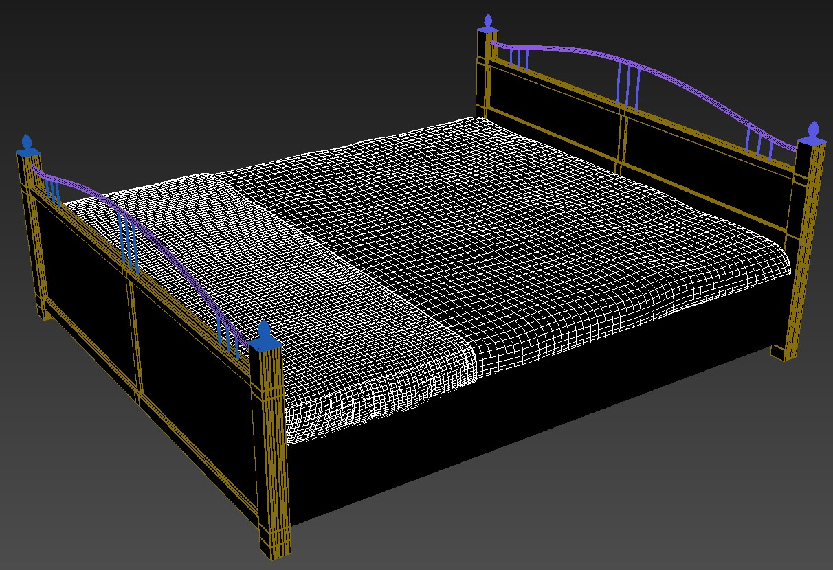 Free Download Traditional Wooden Bed Design 3D MAX File