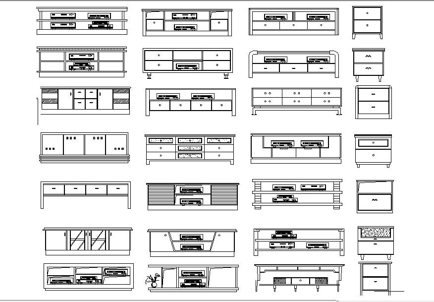 Furniture block design in autocad