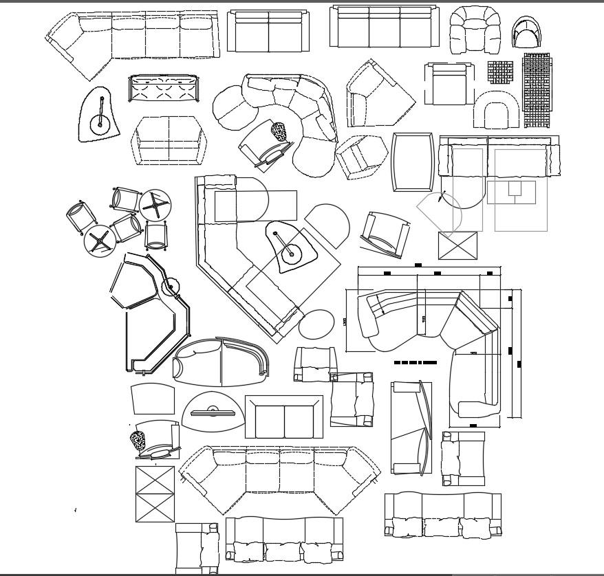 AutoCAD  furniture blocks
