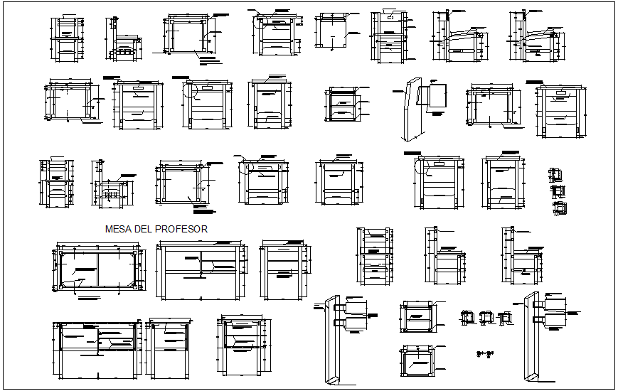 Furniture design view for collage dwg file