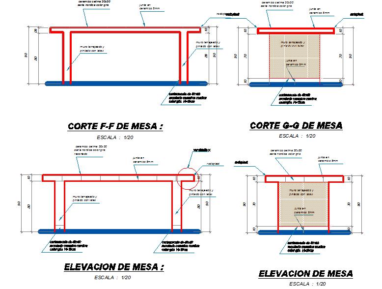 Furniture elevation detail dwg file