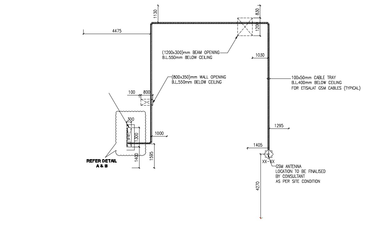 Machinery layout plan in AutoCAD file